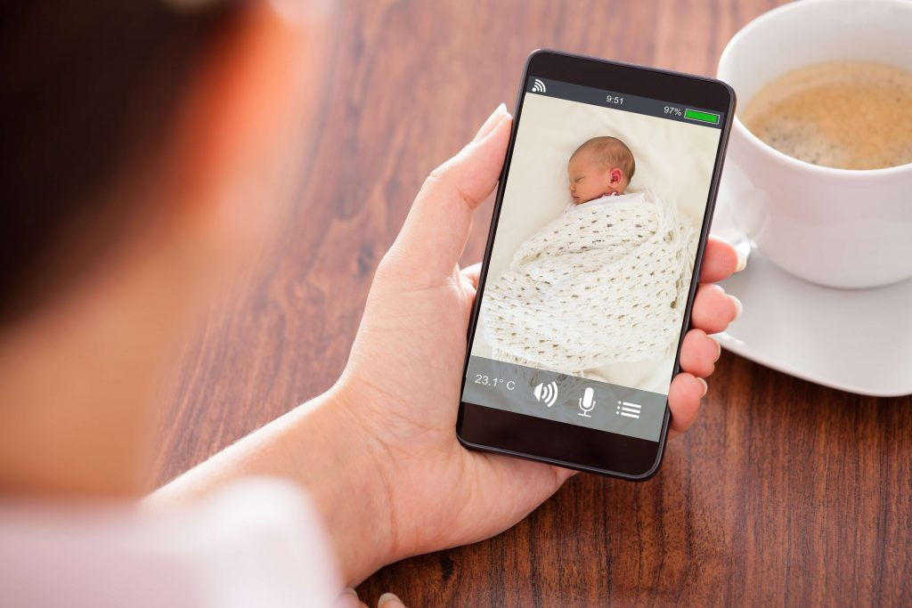 How's the baby doing? Watch live video feed on your phone.