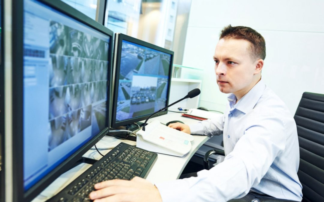 Highly trained security team for security system monitoring